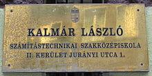 Kalmár László Számítsátechnikai Szakközépsiskola - II. kerület Jurányi utca 1.